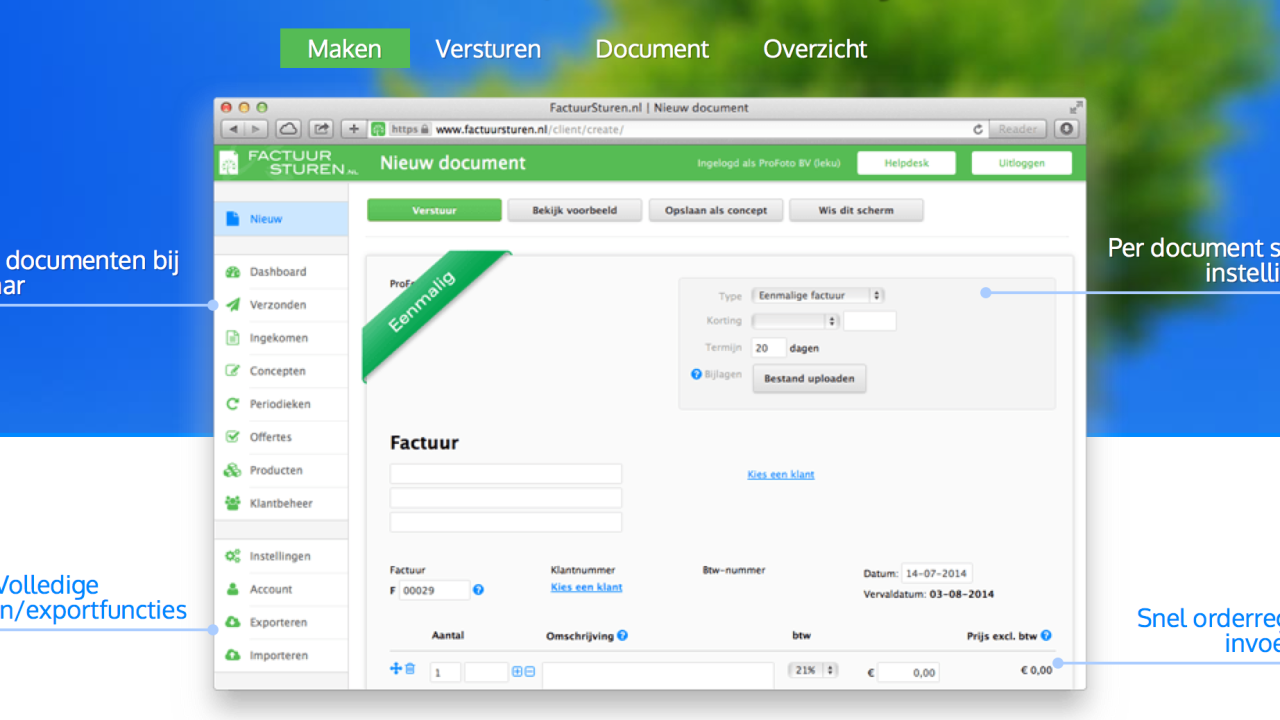 Factuur Software | hetmakershuis